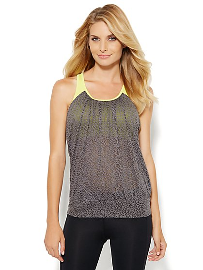 NY&C Velocity - Two-In-One Tank Top - Cheetah - New York & Company