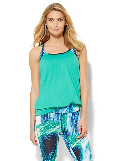 NY&C Velocity - Two-Piece Top - Blue Attraction  - New York & Company
