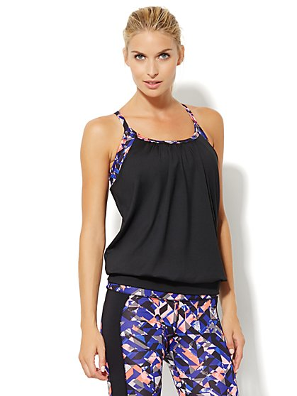 NY&C Velocity - Two-Piece Top - Print & Solid  - New York & Company
