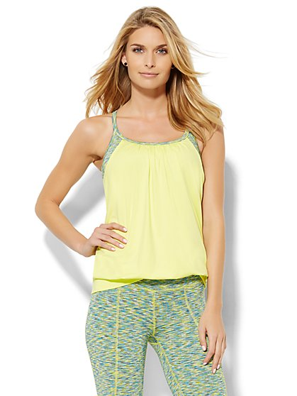 NY&C Velocity - Two-Piece Top - Solid & Space-Dyed - New York & Company