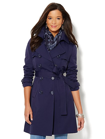 NY Double-Breasted Trench Coat - New York & Company