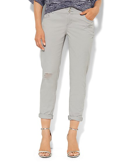 New York Boyfriend Pant - Destroyed - Grey Whispers  - New York & Company