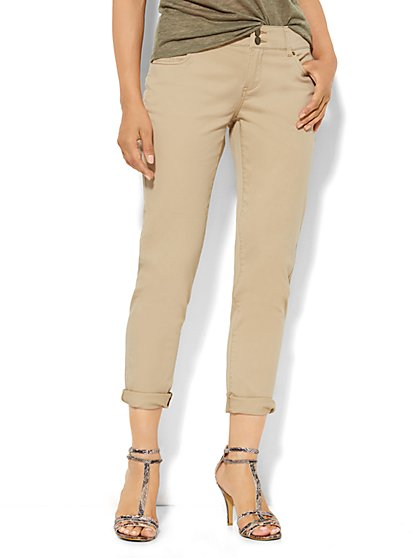 New York Boyfriend Twill Pant - Hazelnut Latte  - New York & Company