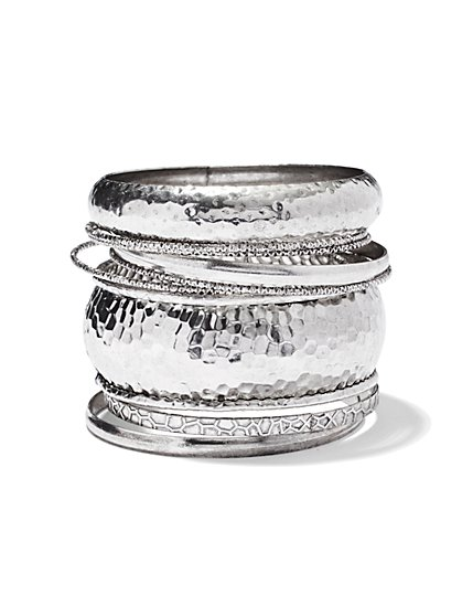 Nine-Piece Bangle Set  - New York & Company
