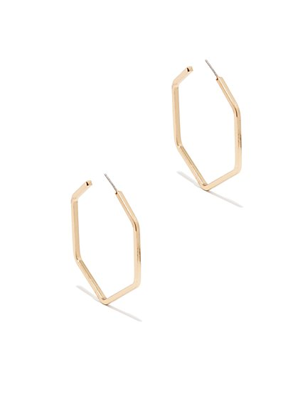 Octagonal Hoop Earring  - New York & Company