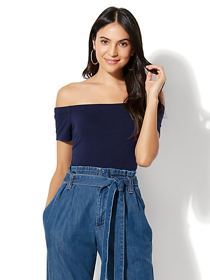 Off-The-Shoulder Bodysuit - New York & Company