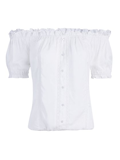 Off-The-Shoulder Button-Front Top - New York & Company