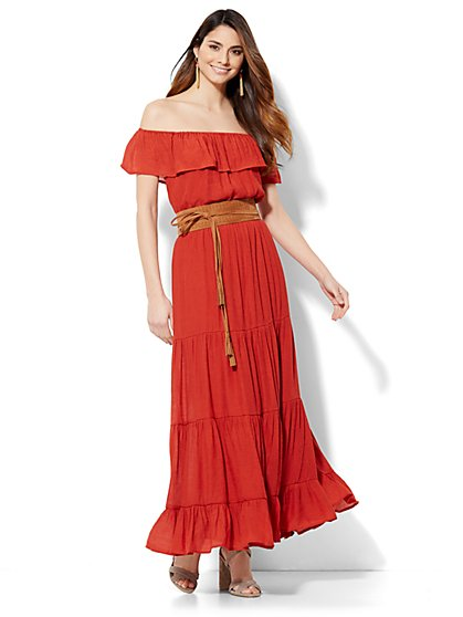 Off-The-Shoulder Maxi Dress  - New York & Company