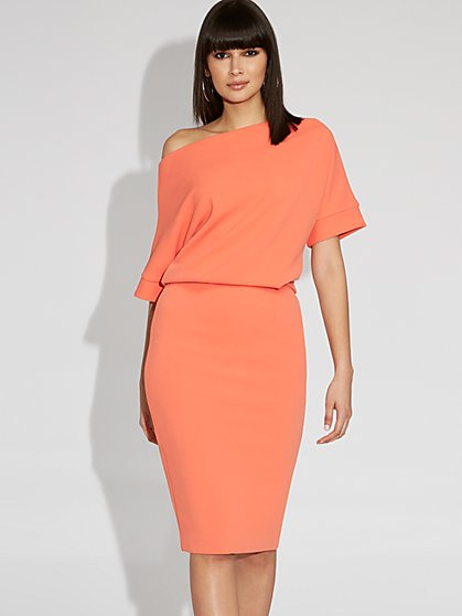 Off-The-Shoulder Sheath Dress - Gabrielle Union Collection - New York & Company
