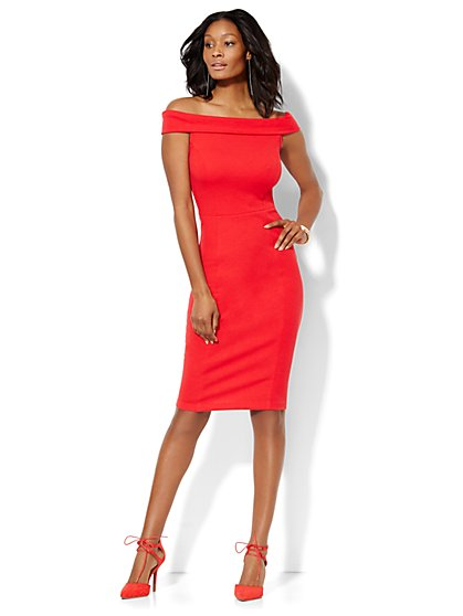 Off-The-Shoulder Sheath Dress - New York & Company