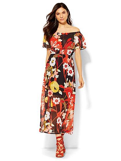 Off-the-Shoulder Maxi Dress - Petite  - New York & Company