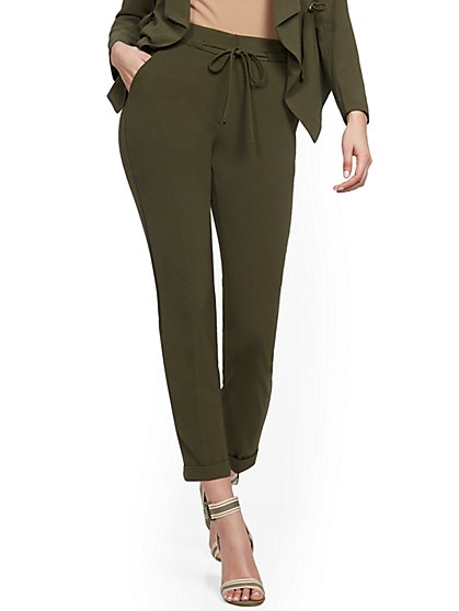 Olive Jogger Pant - 7th Avenue - New York & Company