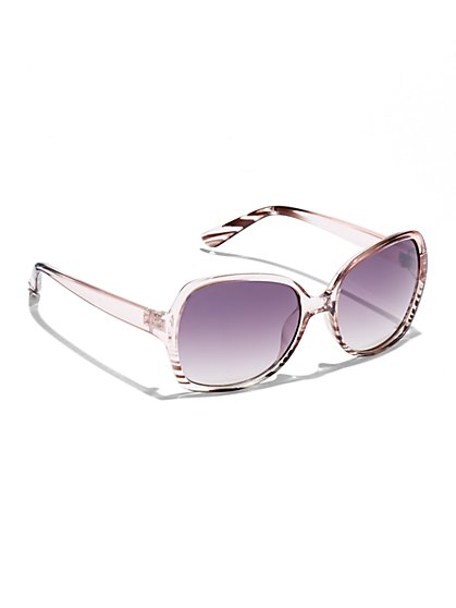 Ombré Abstract Sunglasses  - New York & Company