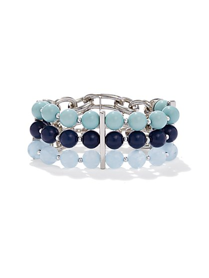 Ombré-Beaded Stretch Bracelet