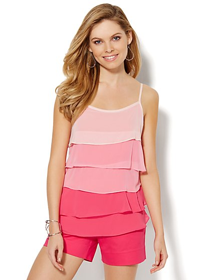 Ombré Chiffon Tiered Camisole - New York & Company