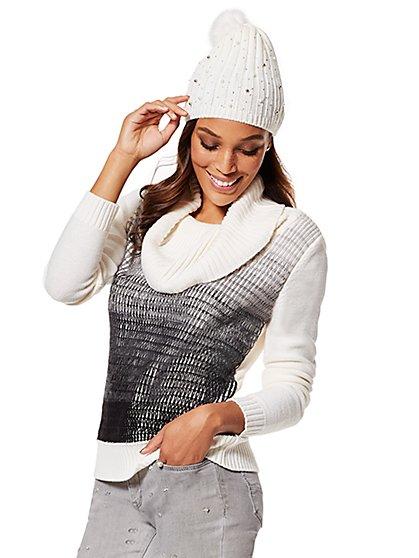 Ombré Cowl-Neck Sweater - New York & Company