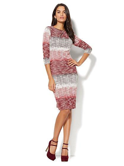 Ombré Crossover-Detail Sheath Dress - Petite - New York & Company