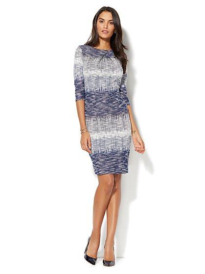 Ombré Crossover-Detail Sheath Dress - New York & Company