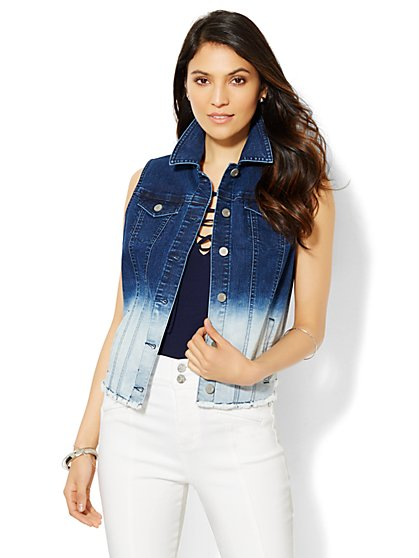 Ombré Denim Vest  - New York & Company