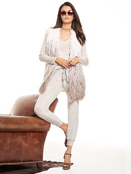 Ombré Faux-Fur Vest - New York & Company