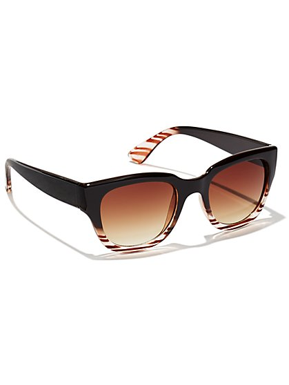 Ombré Faux-Tortoise Sunglasses  - New York & Company