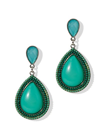 Ombré-Frame Teardrop Earrings