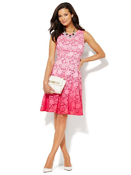 Ombré Lace Dress - Petite - New York & Company
