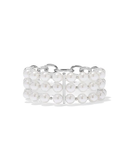 Ombre-Beaded Stretch Bracelet - New York & Company