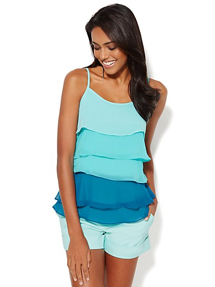 Ombre Chiffon Tiered Camisole - New York & Company