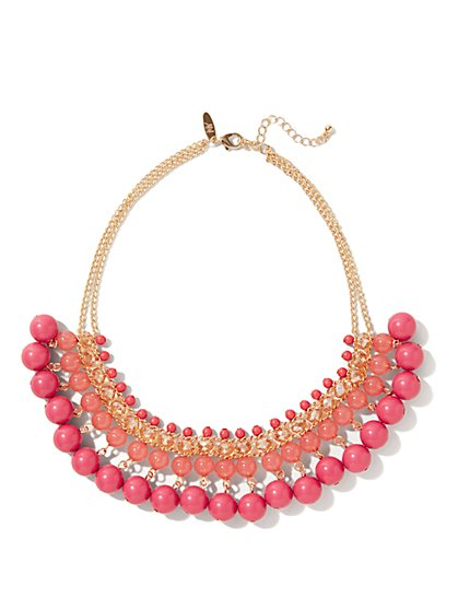 Ombre Jangle Bib Necklace