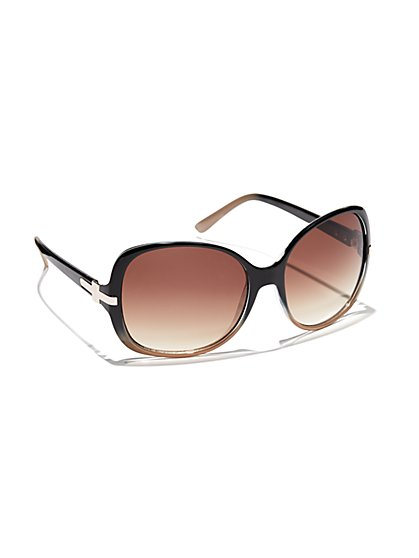 Ombre Round Sunglasses - New York & Company
