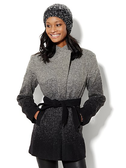 Ombre Wool-Blend Coat  - New York & Company