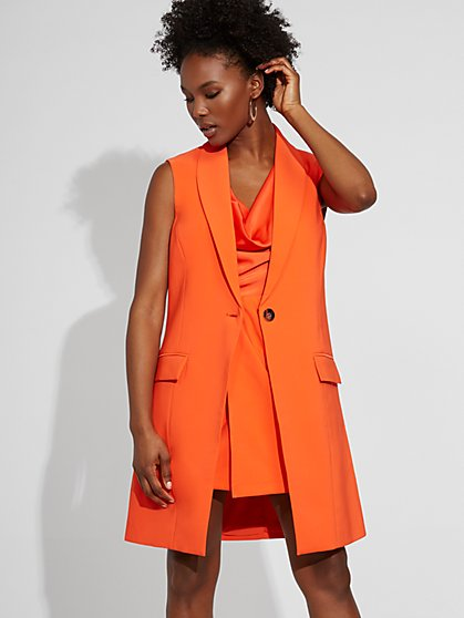 One-Button Vest - Gabrielle Union Collection - New York & Company