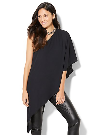 One-Shoulder Hi-Lo Blouse - New York & Company