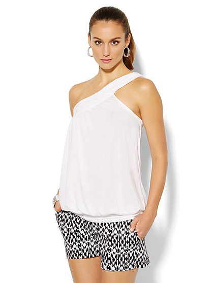 One-Shoulder Top - Solid  - New York & Company