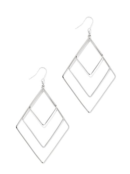 Open Chevron Drop Earring  - New York & Company