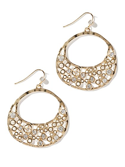 Open-Circle Drop Earrings