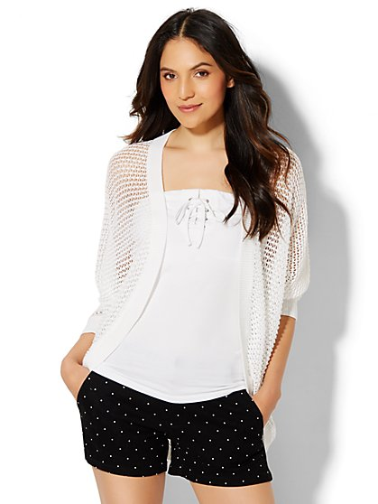 Open-Front Cocoon Cardigan  - New York & Company