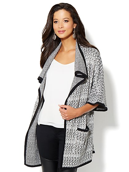 Open-Front Textured Cardigan - New York & Company