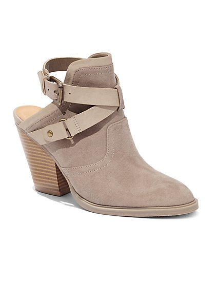 Open-Heel Strappy Bootie  - New York & Company