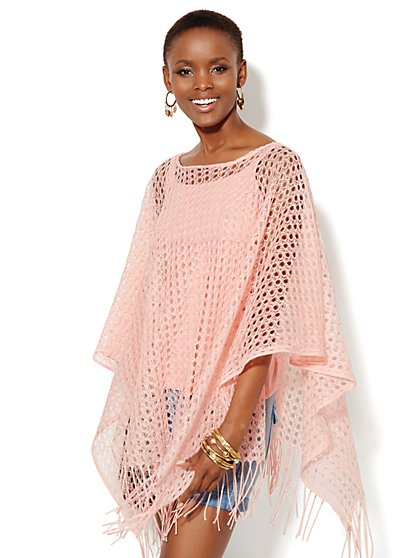 Open-Knit Poncho - New York & Company