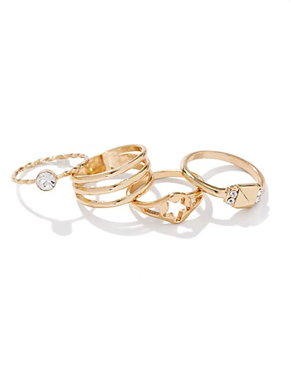 Open-Star Mixed-Ring Set - New York & Company