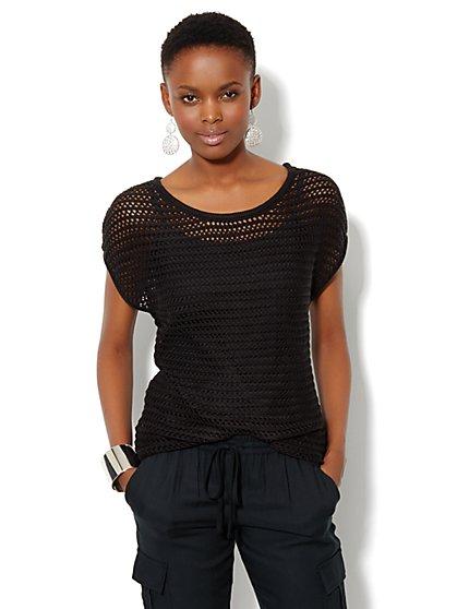 Open-Stitch Sweater - New York & Company