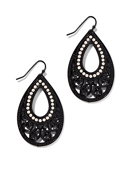 Open-Teardrop Filigree Earring  - New York & Company