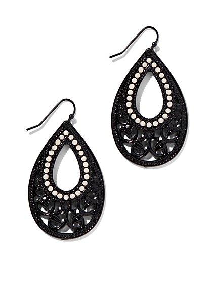Open-Teardrop Filigree Earring  - New York & Company
