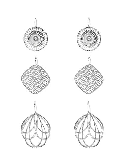 Openwork Drop Earring Set   - New York & Company
