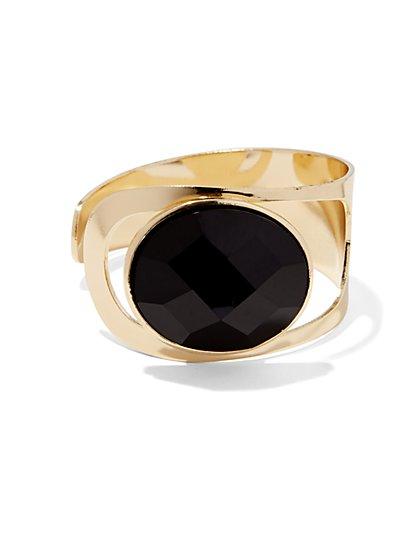 Openwork Faux-Stone Cuff Bracelet  - New York & Company