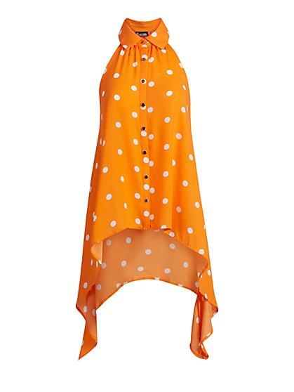 Orange Halter Blouse - 7th Avenue - New York & Company