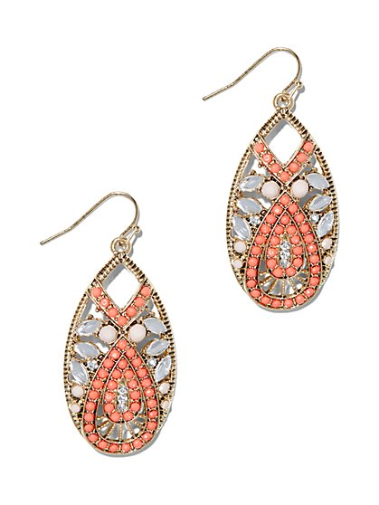 Orange Teardrop Earring - New York & Company
