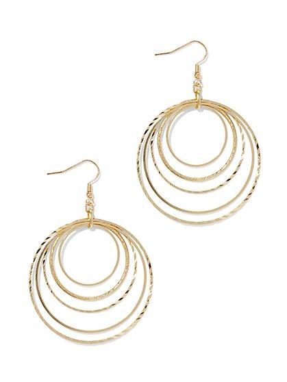 Orbital Hoop Drop Earring  - New York & Company